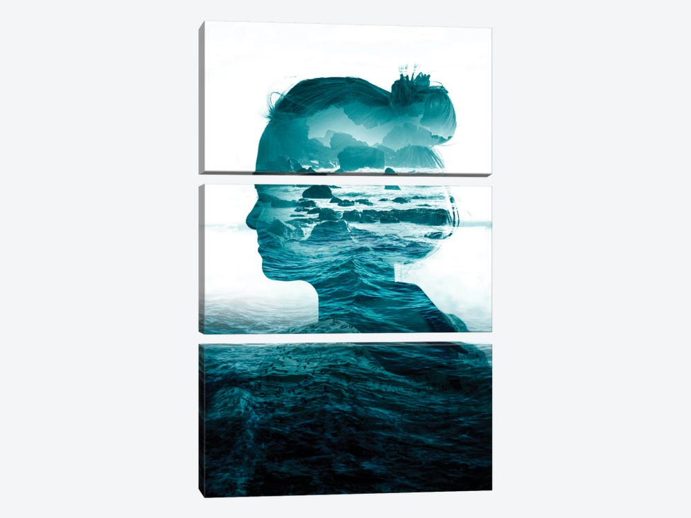 The Sea Inside Me by Stoian Hitrov 3-piece Art Print