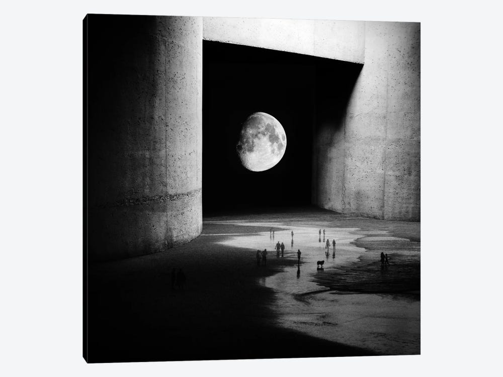 To The Moon by Stoian Hitrov 1-piece Art Print