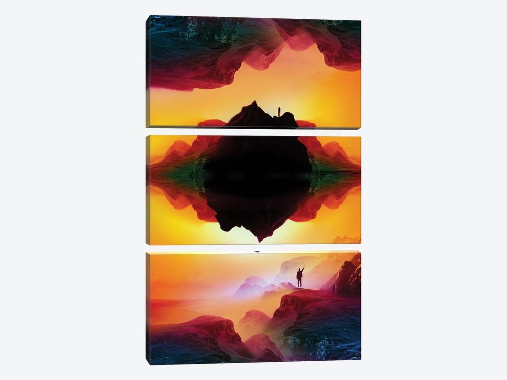 Vibrant Isolation Island by Stoian Hitrov 3-piece Canvas Art