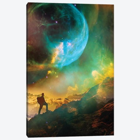 Vibrant Space Hiker Canvas Print #STO52} by Stoian Hitrov Canvas Print