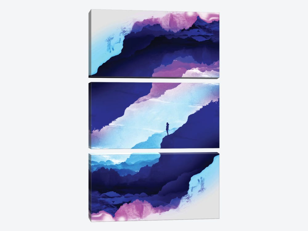Violet Dream Of Isolation by Stoian Hitrov 3-piece Canvas Artwork
