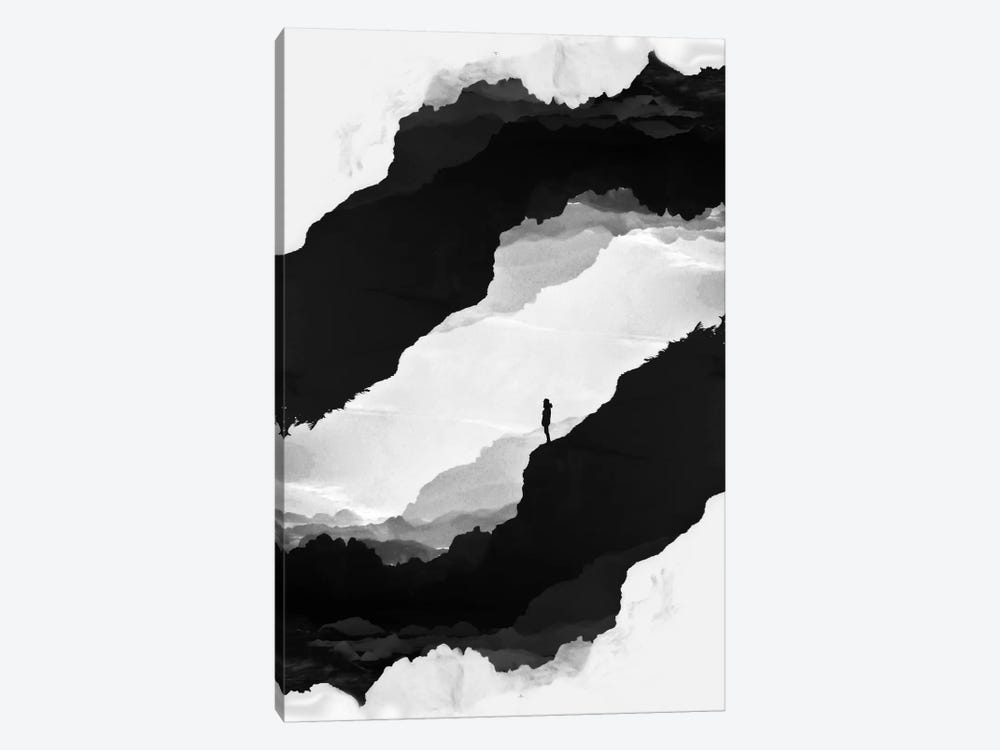 White Isolation by Stoian Hitrov 1-piece Canvas Wall Art