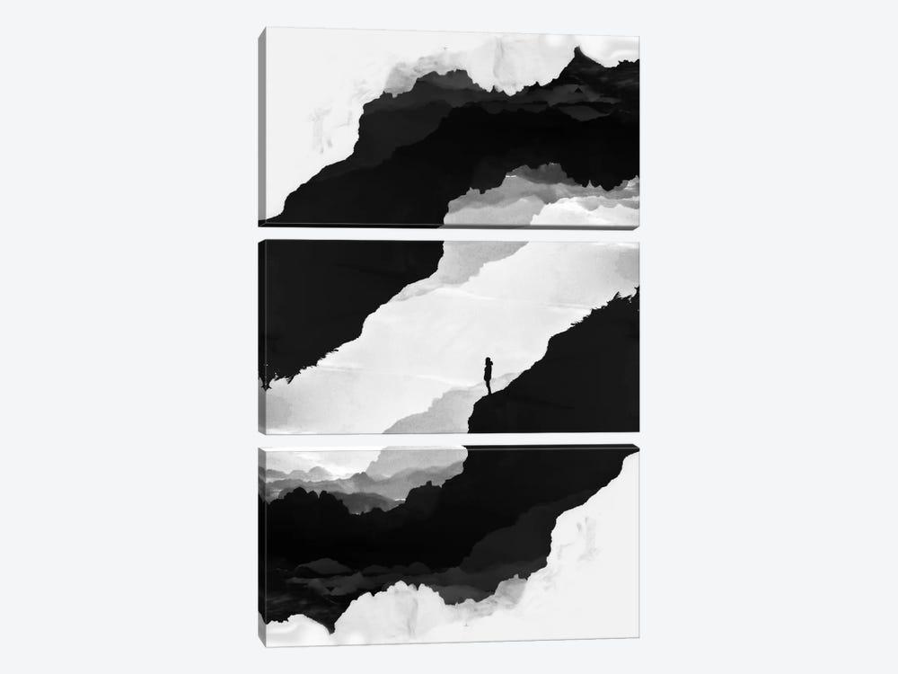 White Isolation by Stoian Hitrov 3-piece Canvas Art