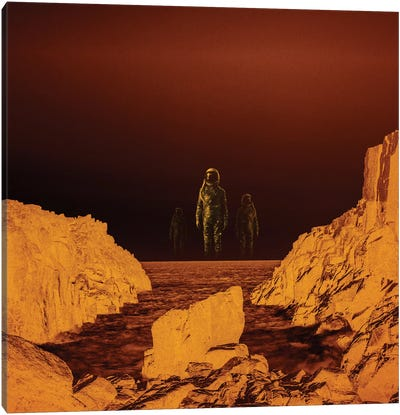 Escape From Red Planet Canvas Art Print