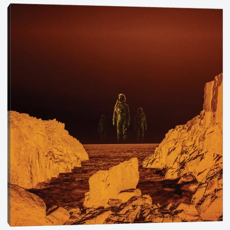 Escape From Red Planet Canvas Print #STO6} by Stoian Hitrov Canvas Artwork
