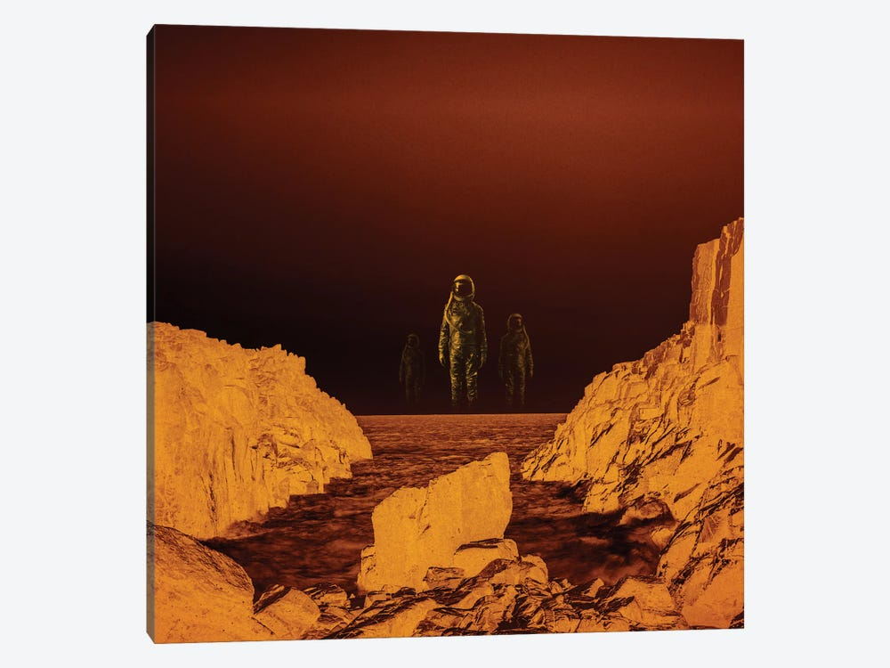 Escape From Red Planet by Stoian Hitrov 1-piece Canvas Artwork
