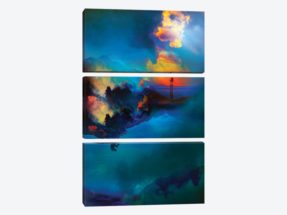 Time Keepers by Stoian Hitrov 3-piece Canvas Art Print