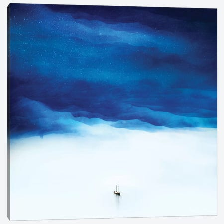Boat Isolation 3-Piece Canvas #STO74} by Stoian Hitrov Canvas Wall Art