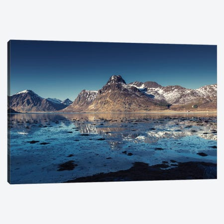 Lofoten Blues Canvas Print #STR125} by Andreas Stridsberg Canvas Art