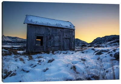 Lofoten Cabin Canvas Art Print