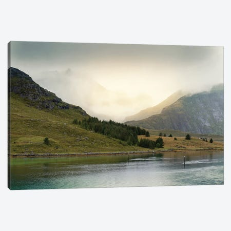Lofoten Green Canvas Print #STR130} by Andreas Stridsberg Canvas Wall Art