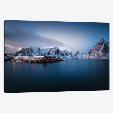 Lofoten Harbor I Canvas Print #STR131} by Andreas Stridsberg Canvas Artwork