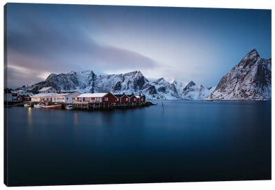Lofoten Harbor I Canvas Art Print
