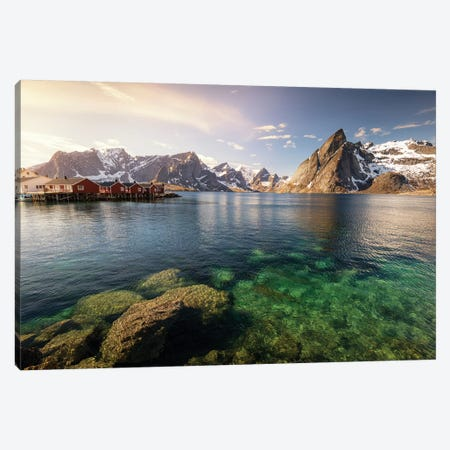 Lofoten Harbor II Canvas Print #STR132} by Andreas Stridsberg Canvas Wall Art