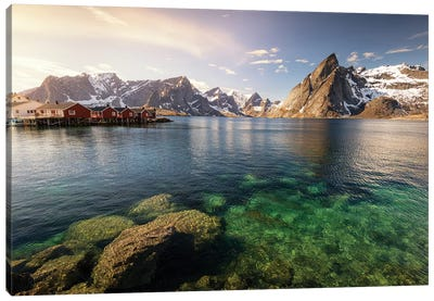 Lofoten Harbor II Canvas Art Print