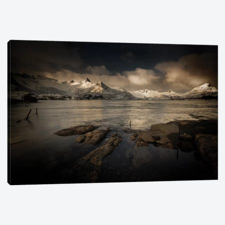 Lofoten Noir Canvas Print #STR133} by Andreas Stridsberg Canvas Artwork