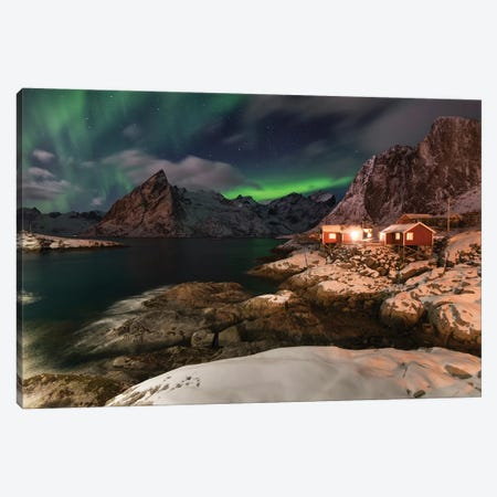 Lofoten Norther Lights Canvas Print #STR134} by Andreas Stridsberg Art Print