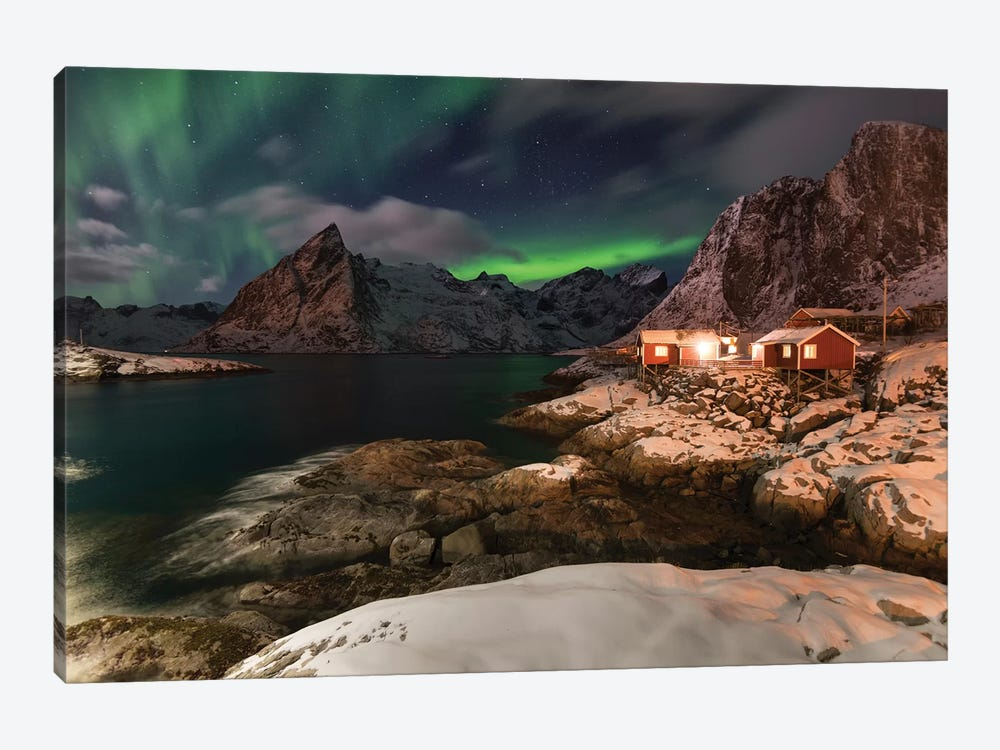 Lofoten Norther Lights by Andreas Stridsberg 1-piece Canvas Art Print