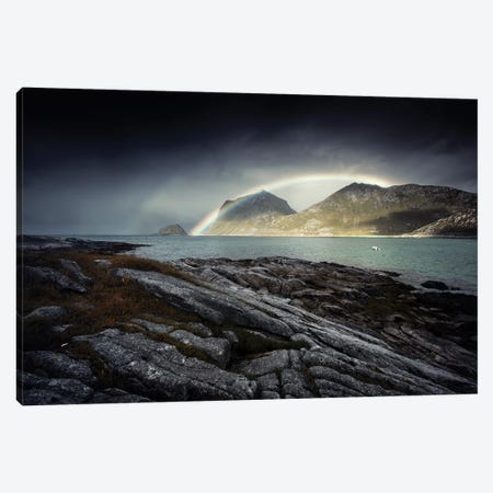 Lofoten Rainbow II Canvas Print #STR135} by Andreas Stridsberg Art Print