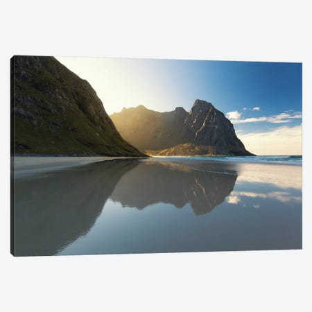 Lofoten Reflection III Canvas Print #STR138} by Andreas Stridsberg Canvas Wall Art