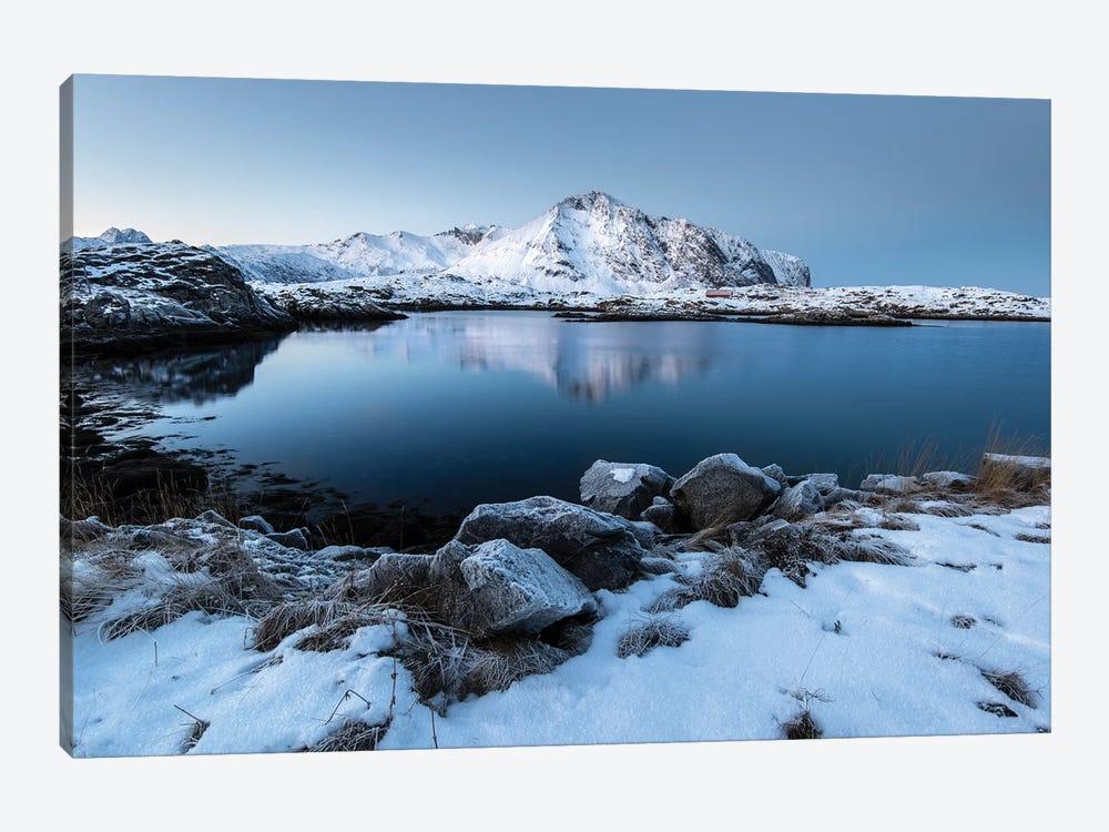 Lofoten Snow Lake by Andreas Stridsberg 1-piece Art Print