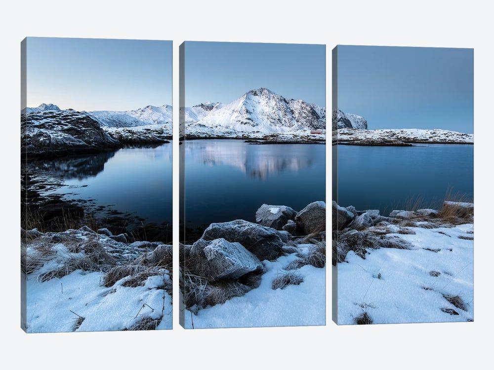 Lofoten Snow Lake by Andreas Stridsberg 3-piece Canvas Print