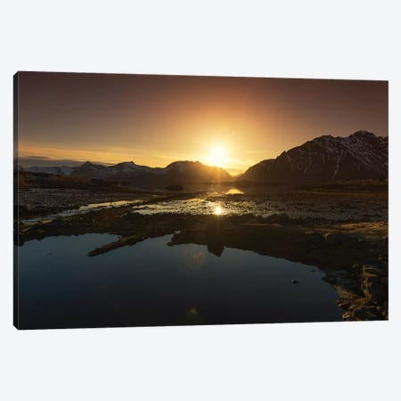 Lofoten Sunset Canvas Print #STR144} by Andreas Stridsberg Canvas Wall Art
