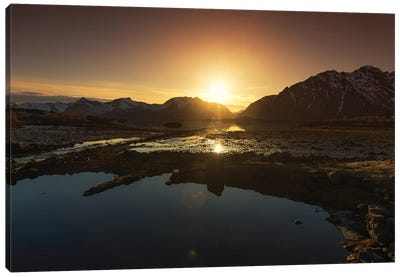 Lofoten Sunset Canvas Art Print