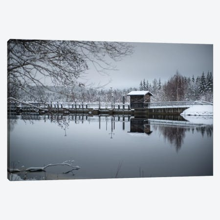 Mystic Bridge Canvas Print #STR147} by Andreas Stridsberg Canvas Wall Art