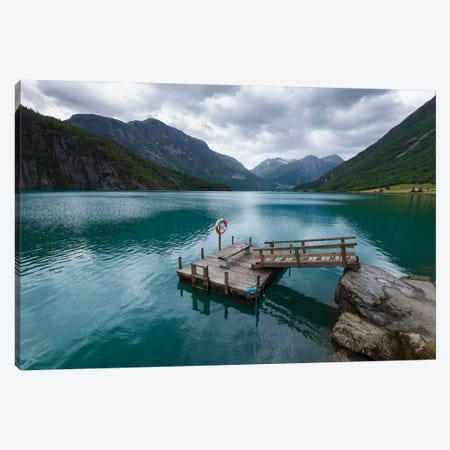 Norway Pier Canvas Print #STR148} by Andreas Stridsberg Canvas Print