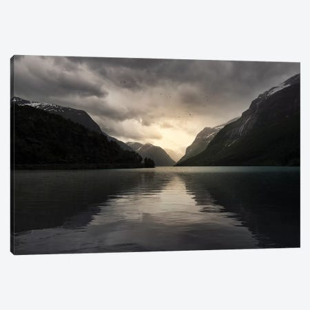 Norway Sunrise Canvas Print #STR149} by Andreas Stridsberg Art Print