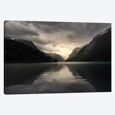 Norway Sunrise Canvas Print #STR149} by Andreas Stridsberg Art Print