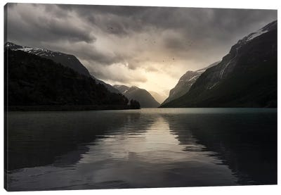 Norway Sunrise Canvas Art Print