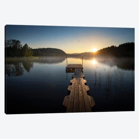 Sunset Pier I Canvas Print #STR153} by Andreas Stridsberg Canvas Art
