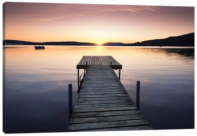 Sunset Pier II Canvas Art Print