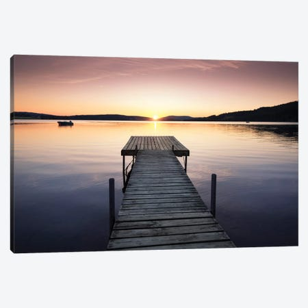Sunset Pier II Canvas Print #STR154} by Andreas Stridsberg Canvas Art Print