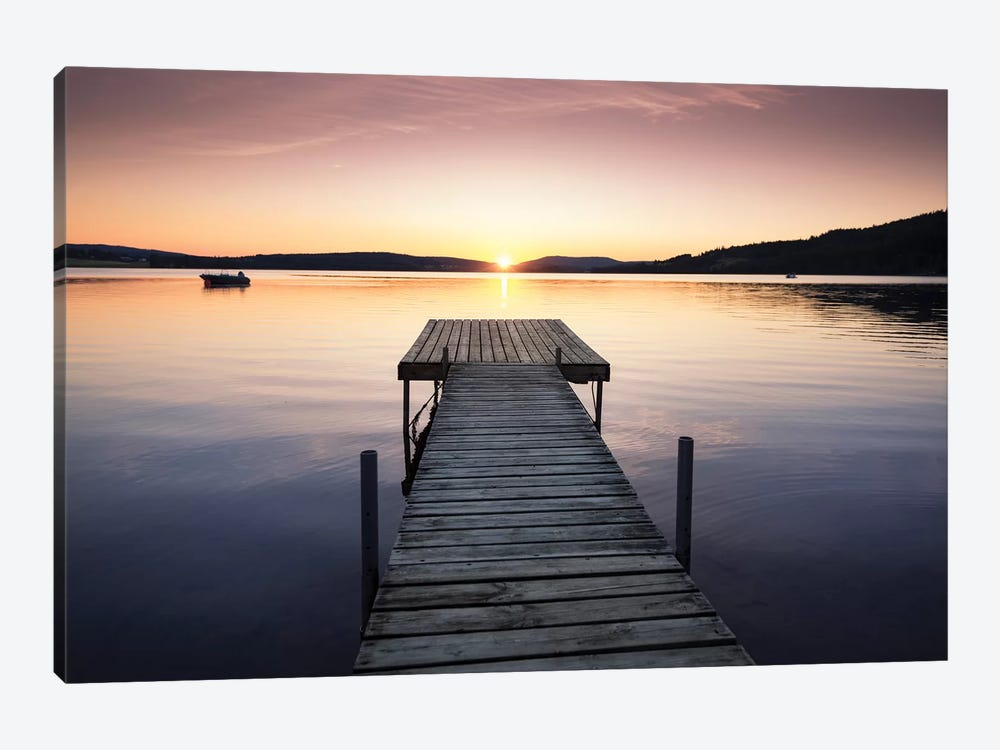 Sunset Pier II by Andreas Stridsberg 1-piece Canvas Print