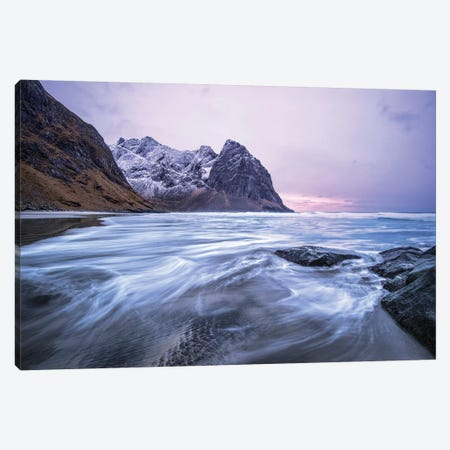 Arctic Tides Canvas Print #STR169} by Andreas Stridsberg Canvas Art Print