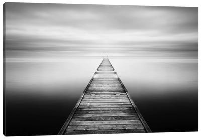 Evening Stillness-B&W Canvas Art Print