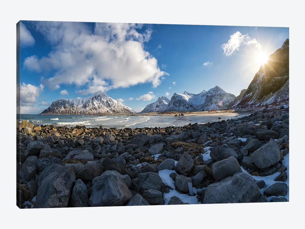 Flakstad Beach by Andreas Stridsberg 1-piece Canvas Artwork