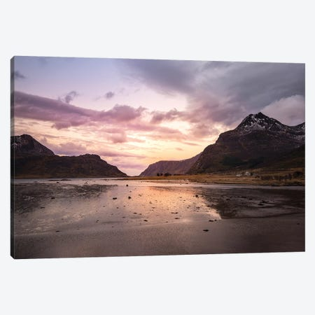 Lofoten Spring Canvas Print #STR188} by Andreas Stridsberg Art Print