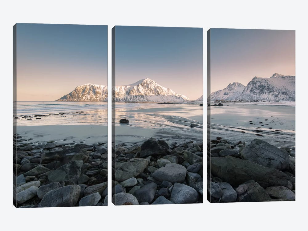 Flakstad Beach by Andreas Stridsberg 3-piece Canvas Wall Art