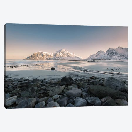 Flakstad Beach Canvas Print #STR19} by Andreas Stridsberg Canvas Wall Art