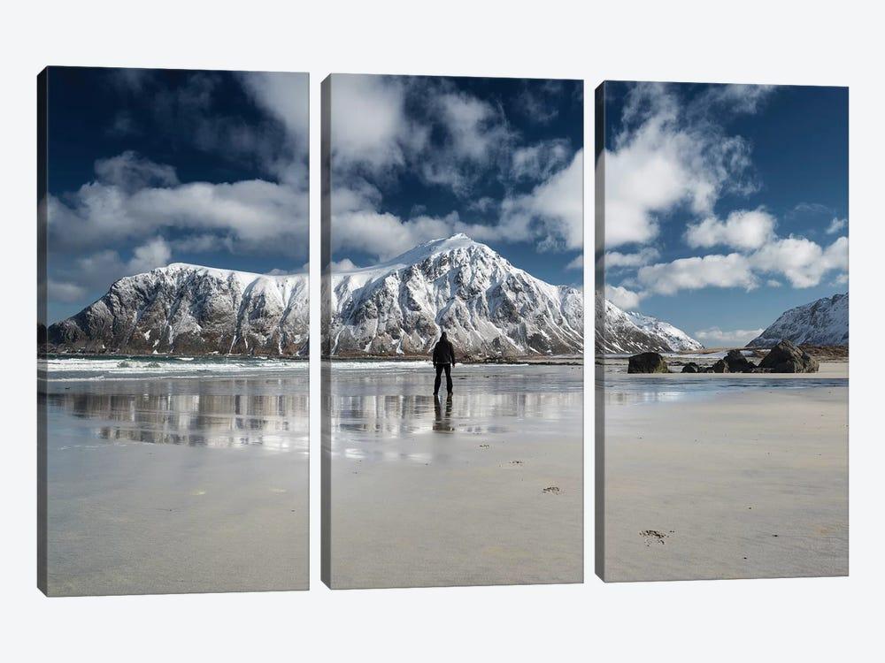 Walk Alone by Andreas Stridsberg 3-piece Canvas Print