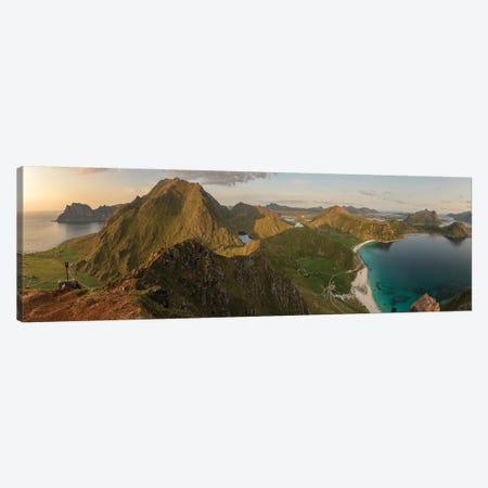 Haukland Panorama Canvas Print #STR208} by Andreas Stridsberg Canvas Wall Art