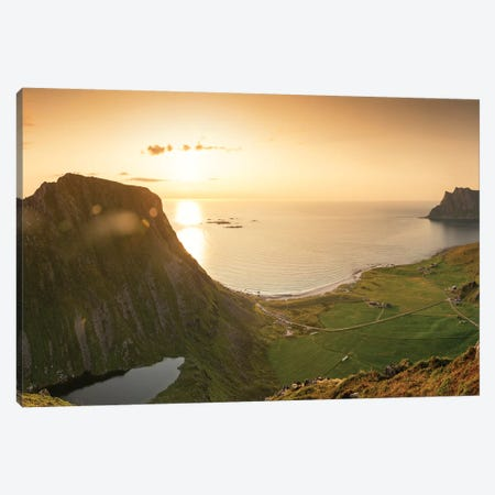 Utakleiv Panorama Canvas Print #STR209} by Andreas Stridsberg Canvas Art