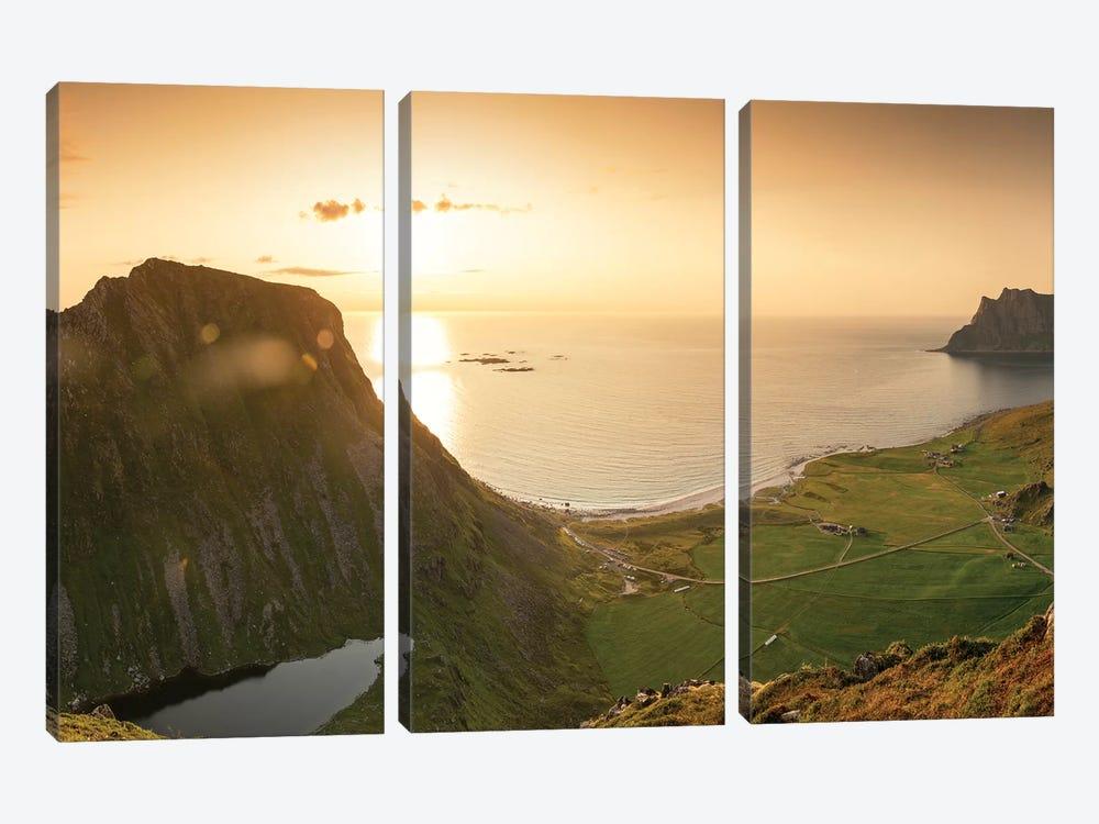 Utakleiv Panorama by Andreas Stridsberg 3-piece Canvas Print