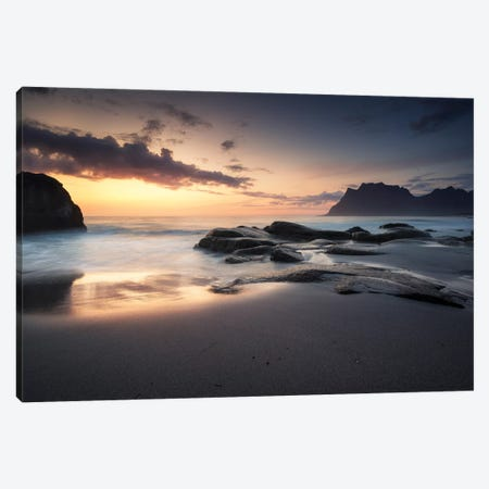 Midnight Waves Canvas Print #STR214} by Andreas Stridsberg Canvas Artwork