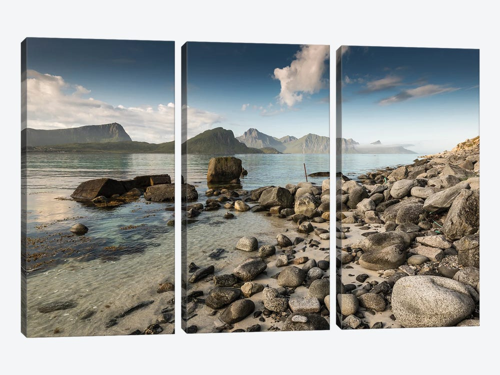 Haukland Shore by Andreas Stridsberg 3-piece Canvas Art Print