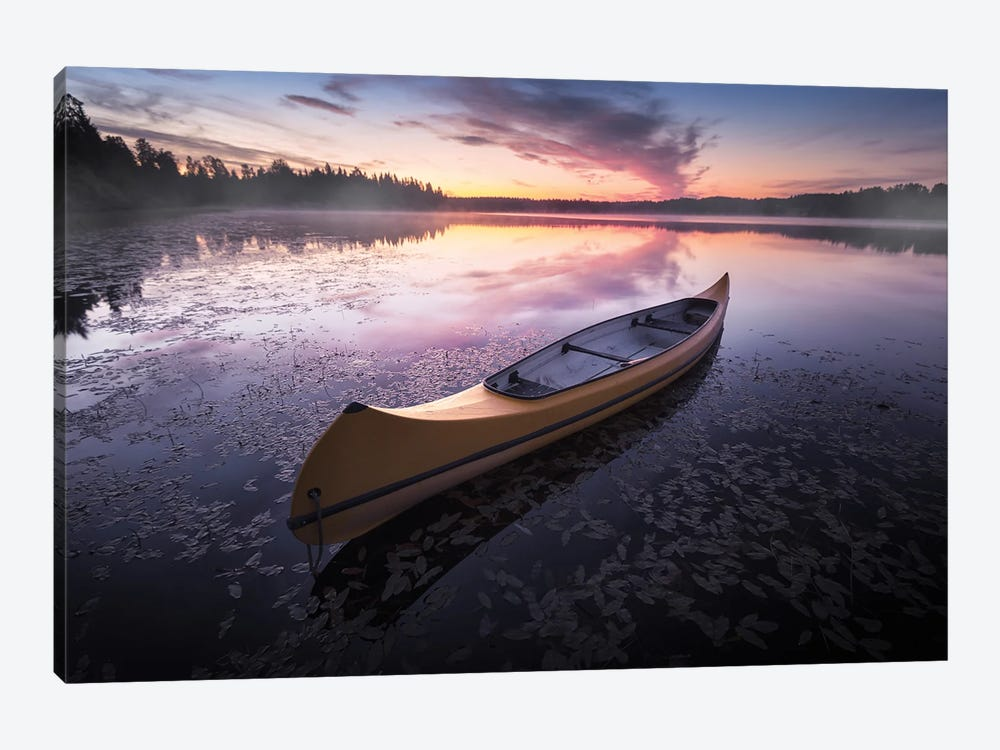 Midnight Canoe by Andreas Stridsberg 1-piece Canvas Art Print